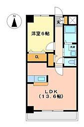愛知県名古屋市中川区川前町の賃貸マンションの間取り