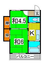 前島荘[2階]の間取り
