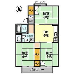 東山ハイツ A棟[1階]の間取り
