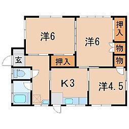 [一戸建] 福島県福島市笹谷字三本松 の賃貸【/】の間取り