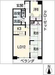 ハーモニーセブン[9階]の間取り