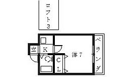 Village House(ビレッジハウス)[206号室号室]の間取り