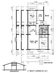 鹿の子台北ハイツ 10号棟[3階]の間取り