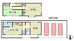 [一戸建] 兵庫県姫路市飾磨区中島2丁目 の賃貸【/】の間取り