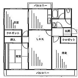 Fujisaki ハイム[3階]の間取り