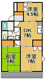 第3ギャラリーマンション[3階]の間取り