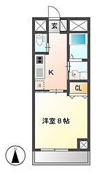 BERG IZUMI(ベルグイズミ)[2階]の間取り