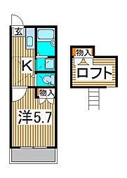 グランパルクIV[2階]の間取り