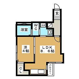 ブランノワール W18.exe[2階]の間取り