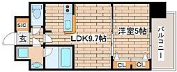 阪急神戸本線 王子公園駅 徒歩6分の賃貸マンション 4階1LDKの間取り