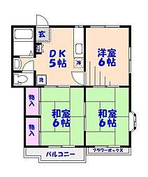 清水ハイツパートII[2階]の間取り