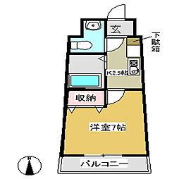 セラヴィ坂崎[806号室]の間取り