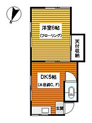 神奈川県川崎市幸区南加瀬2丁目の賃貸アパートの間取り