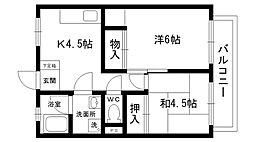 梅田マンション[303号室]の間取り