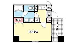 アスヴェル神戸元町[4階]の間取り