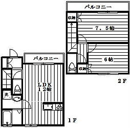 [テラスハウス] 神奈川県川崎市宮前区東有馬4丁目 の賃貸【/】の間取り
