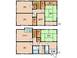 [一戸建] 和歌山県和歌山市和歌浦東3丁目 の賃貸【/】の間取り