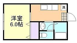 アンゲネエム倉敷B棟[1階]の間取り