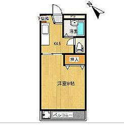 海南ベース(旧さくらんぼ) K[203号室]の間取り