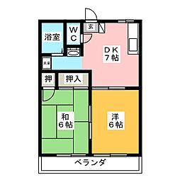 ハピネス井ケ谷[2階]の間取り