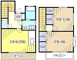 [テラスハウス] 東京都東村山市野口町4丁目 の賃貸【/】の間取り