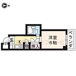 大藤マンション[5-D号室]の間取り