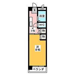 第3スカイマンション[4階]の間取り