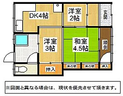 [一戸建] 福岡県北九州市戸畑区三六町 の賃貸【/】の間取り