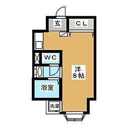 FLAT136[3階]の間取り