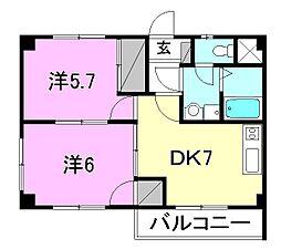 コートハウスIII[203 号室号室]の間取り