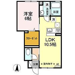 東京都練馬区関町北4丁目の賃貸アパートの間取り