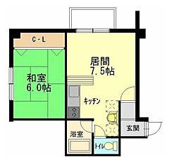 イーグル311[5階]の間取り