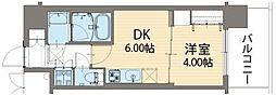 Osaka Metro長堀鶴見緑地線 蒲生四丁目駅 徒歩3分の賃貸マンション 9階1DKの間取り