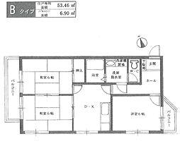 ヴェルドール武庫之荘[302号室]の間取り