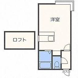 ベルメゾン琴似A棟[2階]の間取り