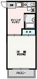 神奈川県横浜市金沢区能見台通の賃貸アパートの間取り