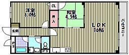 グランドメゾン津々山台[1階]の間取り
