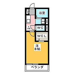 カーサ山田[2階]の間取り