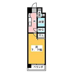 サニー東山[9階]の間取り