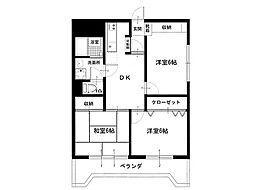 香川県観音寺市三本松町2丁目の賃貸マンションの間取り