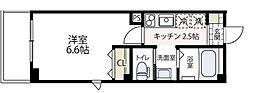 ラフィネ横浜[303号室号室]の間取り