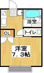 育栄荘[206号室]の間取り