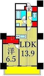 東京メトロ日比谷線 南千住駅 徒歩5分の賃貸マンション 10階1LDKの間取り