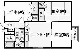 甲南園ハイツ[2階]の間取り