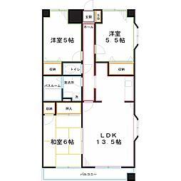 JR南武線 谷保駅 徒歩14分の賃貸マンション 7階3LDKの間取り