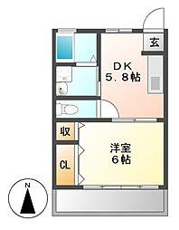 橦木ハウス[1階]の間取り