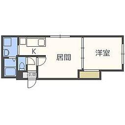 フリーダムコート栄通16[3階]の間取り