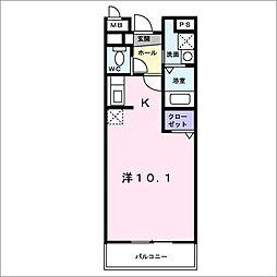 コートライブリーNⅡ[1階]の間取り