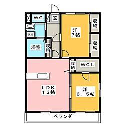 WILL GRACE[2階]の間取り