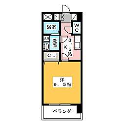 サンハイム桜山[2階]の間取り